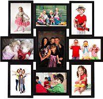 DEEP Large 9 Photos Collage Photo Frame Black
