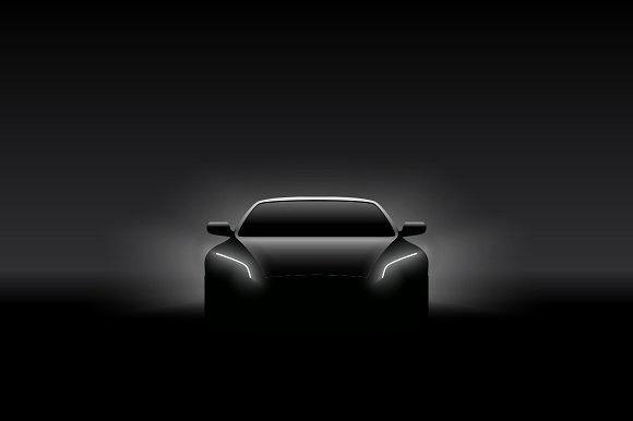 Front View Concept Car Silhouette Logotipo Automotivo Lavagem De Carro Adesivos Para Carros