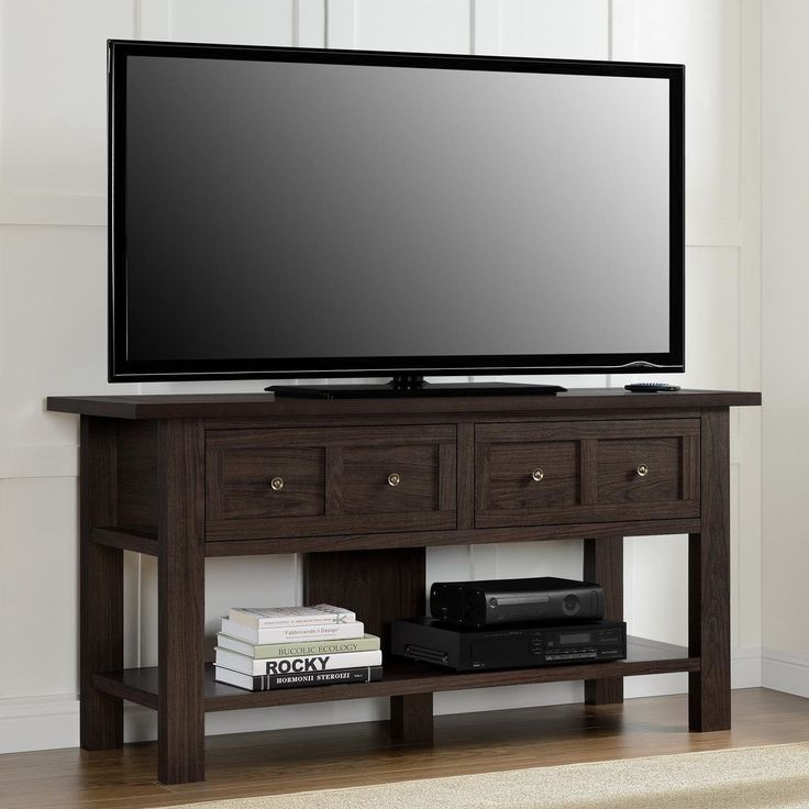 Avenue Greene Havenwood Apothecary 55-inch TV Stand (Warm cherry TV stand), Brown