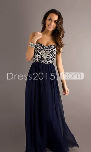 pretty - I like the dark color (more dramatic, more mature) but I like the contrast of the sparkly bodice with the skirt; pretty neckline -- prom dress prom dress