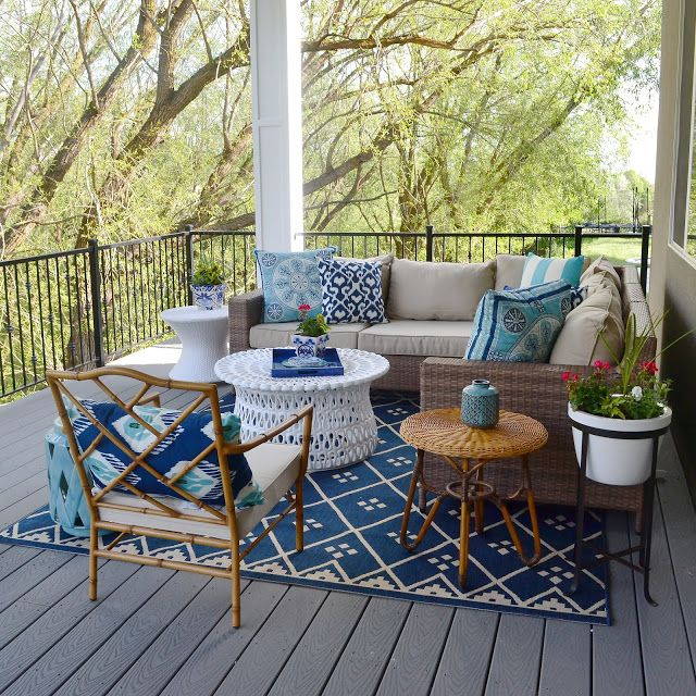 Sita Montgomery Interiors: Sita Montgomery Interiors: My New Deck - Outdoor Living Area