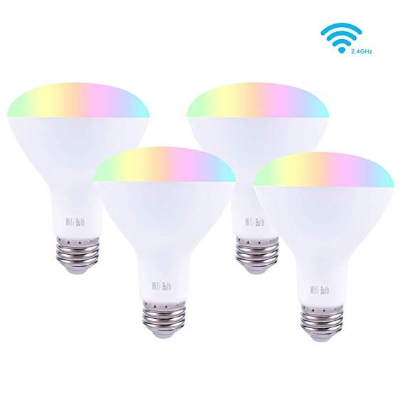 Smalux Br30 Dimmable Smart Bulb Color Rgb Warm White Led Bulb Voice And Remote App Control Bulb Timer Switch Smart Home Ligh With Images Smart Bulb Led Bulb Home Lighting