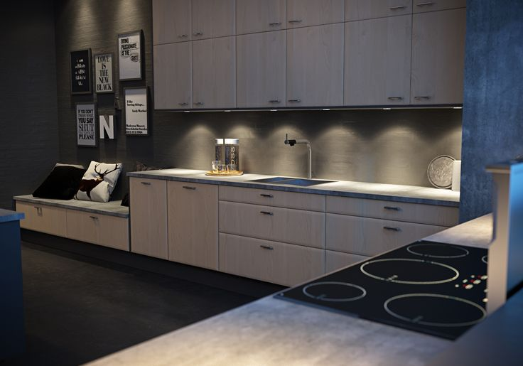 Kjøkkemodell Faz Bjørk i kombinasjon med Faz malt, farge: S7500-N.