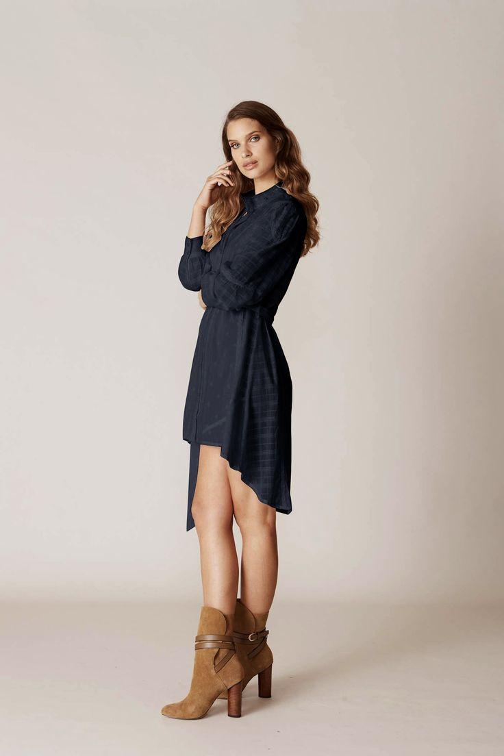 Binny - Oaks Patchwork Broderie Shirt Dress Black