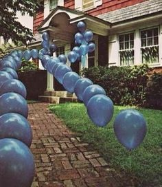Decorate a walkway for an elegant party theme entry. This would be great if the wind never blew in SD. Pretty sure the balloons would be attacking everyone!