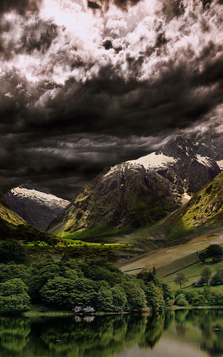 Dark clouds over the Pyrenees, Spain