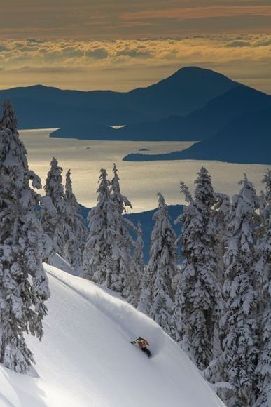Winter Images / Snowboarder, British Columbia by Jeff Patterson