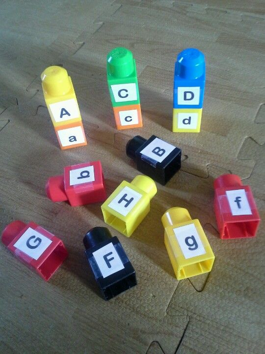 Mega block match up! --capital and lowercase letters