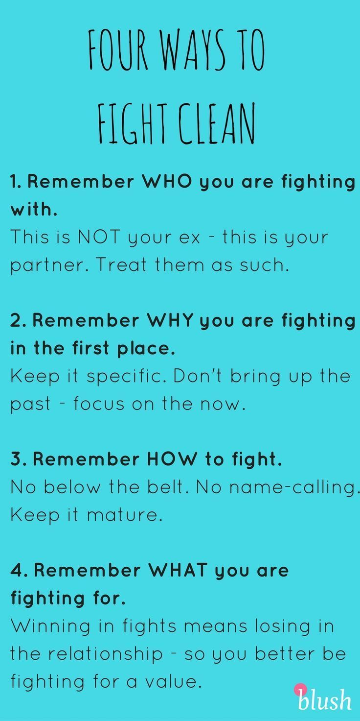 mma tips for first fight in a relationship
