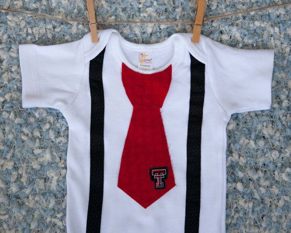 Texas Tech Onesie, with Tie, Shirt, Outfit, Clothes,Texas Tech Baby, Child Boy, Newborn, Bodysuit, Creeper, Wedding First Birthday 1 T-shirt
