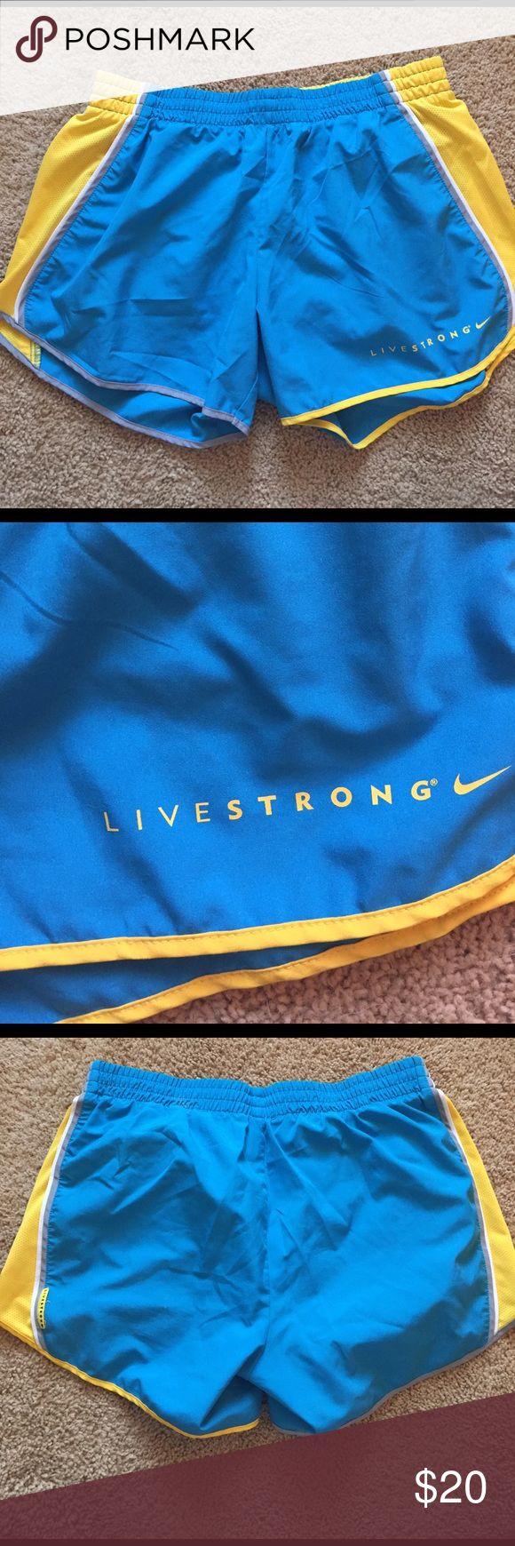 Nike Livestrong running shorts Hardly worn Nike Livestrong running shorts Nike Shorts