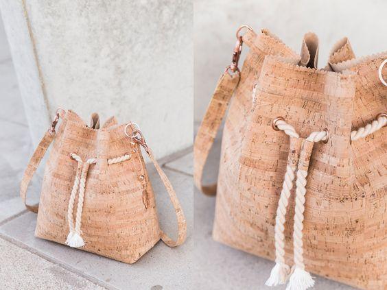 Buxket bag aus Kork - kostenlose Anleitung