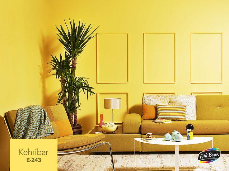 Canlılığı ve coşkuyu simgeleyen Kehribar rengi, özellikle küçük alanlara ve kuzey cephe evlere ferahlık verir ve enerji kata