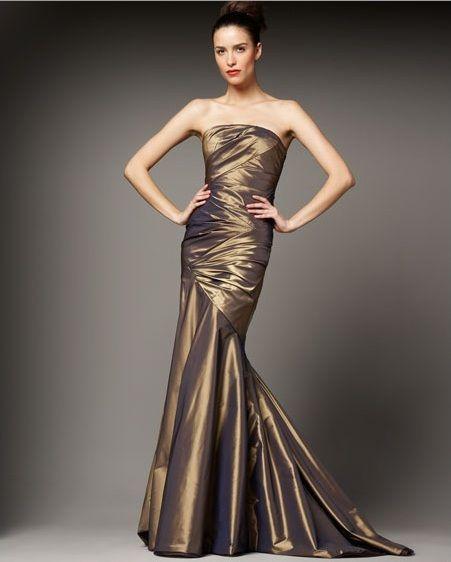 http://www.weddingcometrue.com/bronze-wedding-dresses/ Bronze Wedding Dresses (Source: marctimes.com)