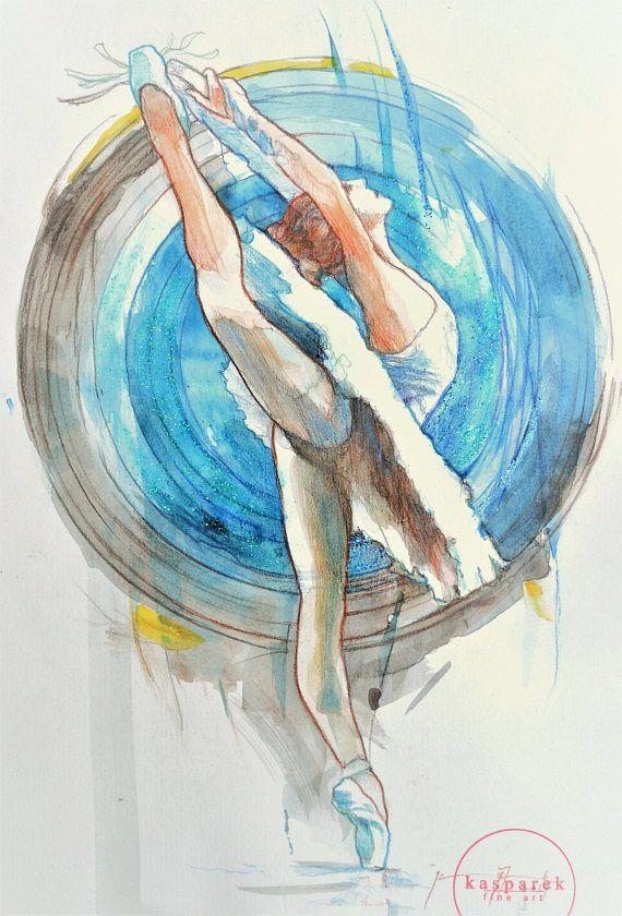 Dancer in Blue Swirling