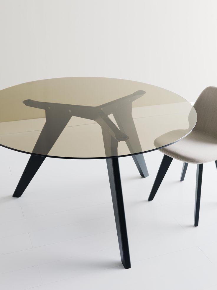 Ago table with round glass top #table #interiordesign #interior #homedesign #design #alias