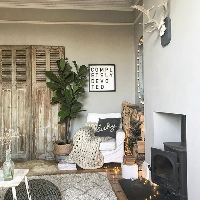 Pin discovered by Laura Bradbury www.laurabradbury.com I literally cannot get enough of these vintage shutters sourced for me by @thebigbloomroom! Prepare to see them styled in every room in the house #sorrynotsorry before their final destination as sliding doors in the garden room. ~ ~