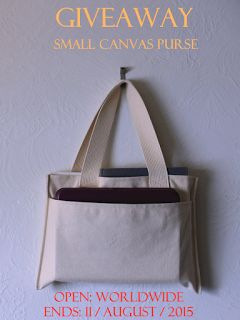 #Enter this #Giveaway for a chance to #win  a Small Canvas #Purse by Tiny Tipis