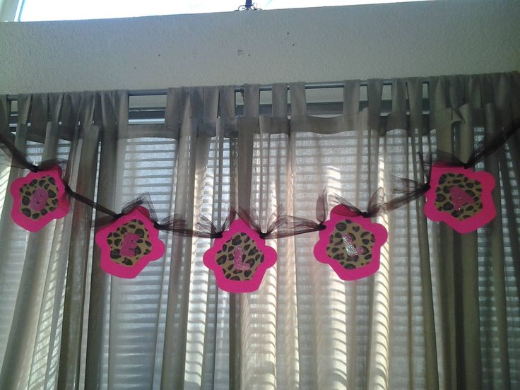 Cheetah party decorations