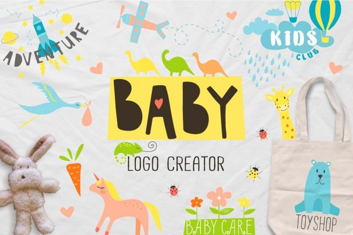 BABY logo creator By Miraclesshop