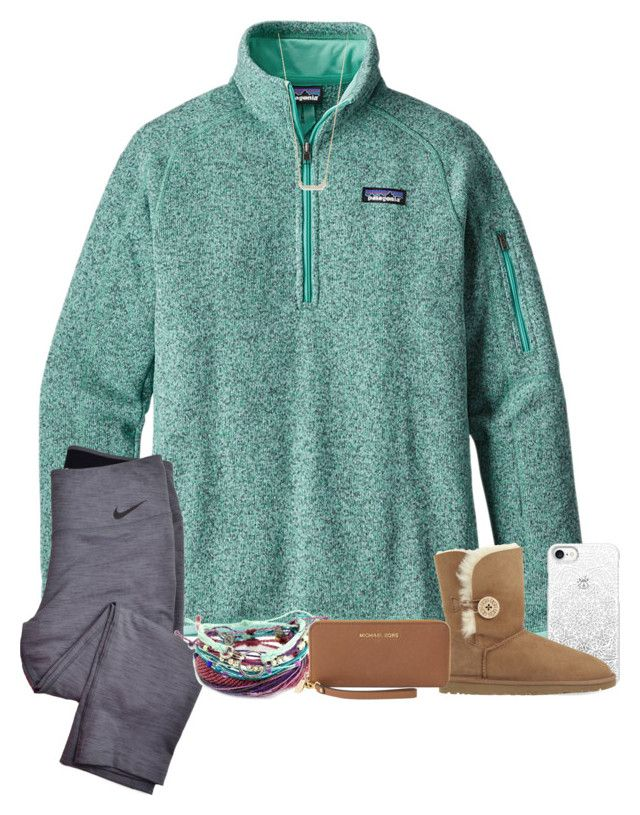 """""""Yo"""" by southerngirls19 ❤ liked on Polyvore featuring Patagonia, NIKE, Casetify, UGG Australia, Adina Reyter and Michael Kors"""