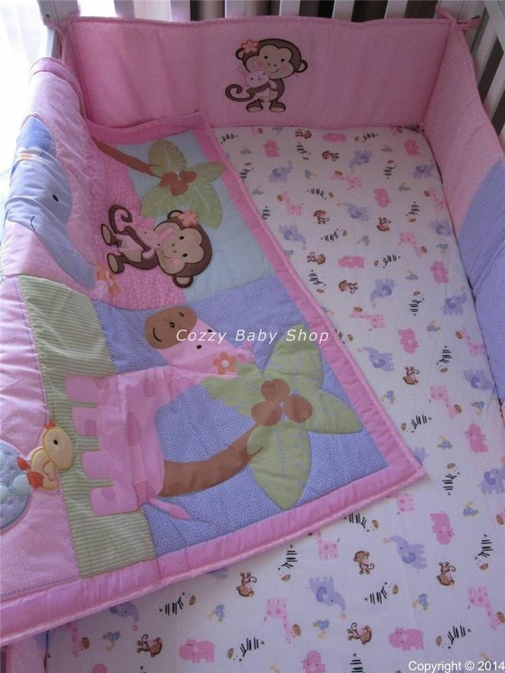 Baby Bedding Cot Crib Sets Animals in HappyLand Theme Brand New Quilt Bumpers