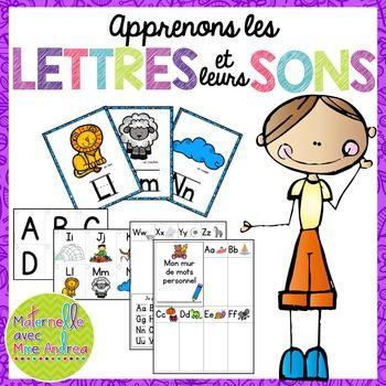 Apprenons les lettres et leurs sons - affiches et cartes éclairs en français