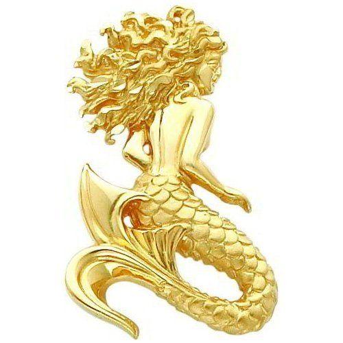 84 best domed omega gold chains and pendant slides images on 14 karat yellow gold mermaid slide pendant aloadofball Images
