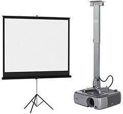 Projector Screen Stands, Carts & Audio Equipment
