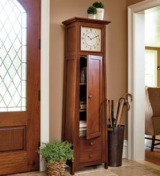 I need something in my entryway and am considering this. I like that there's storage inside the clock.