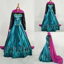 New Frozen Anna robe Made Cosplay Costume pour adultes robe 2 Pcs noël cadeau s - xxl(China (Mainland))