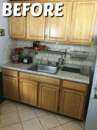 Al Kitchen Makeover Apartments Cabinets Temporary