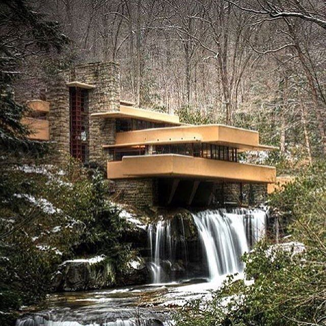 themanliness:  Modern Home in the forest! Via @big.toys! —– Designed by Frank Llyod Wright