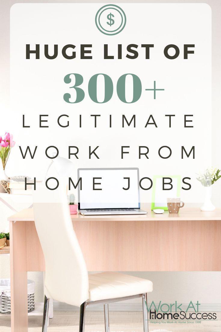 Huge List of 300+ Free Legitimate Work from Home J…