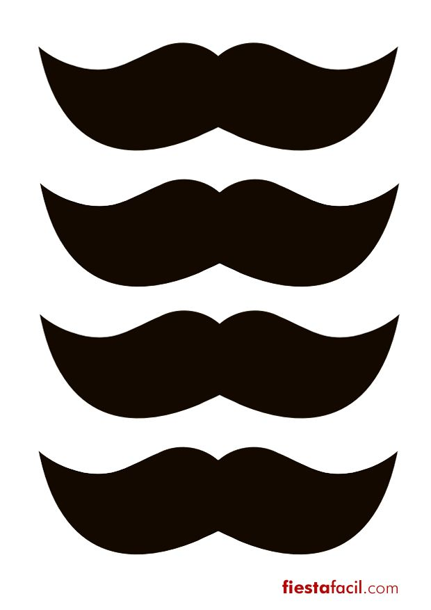 Imprimibles gratuitos para una fiesta bigotes! De www.fiestafacil.com / Free printables for a moustache party! From www.fiestafacil.com