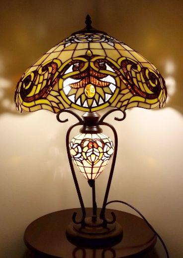 Shrewsbury Glassbase Tiffany Lighting Table Lamp Height 25 Inch 62cm  Diameter 16 Inch 41cm Max Wattage