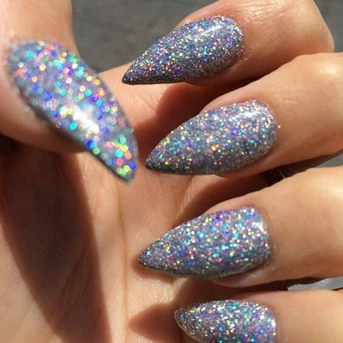 Pointed Glitter Nails 4EVER | Alternative Nail Goals | Pinterest | Glitter Nails Prom Nails And ...