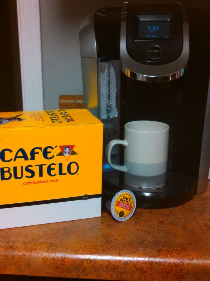 Cafe Bustelo coffee KCups. I'm over the moon happy