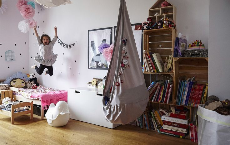 A dream bedroom for a four-year old. Helena (4) has a bedroom where she can sleep, play, have quiet alone time, be creative and dress herself. 'We divided the space into connected activity areas,' say parents Jerzy and Anna in Poland. 'It suits her, so she's really happy.'