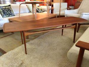 Finn Juhl Danish Teak Coffee Table Mid Century Modern Scandinavian 1950s