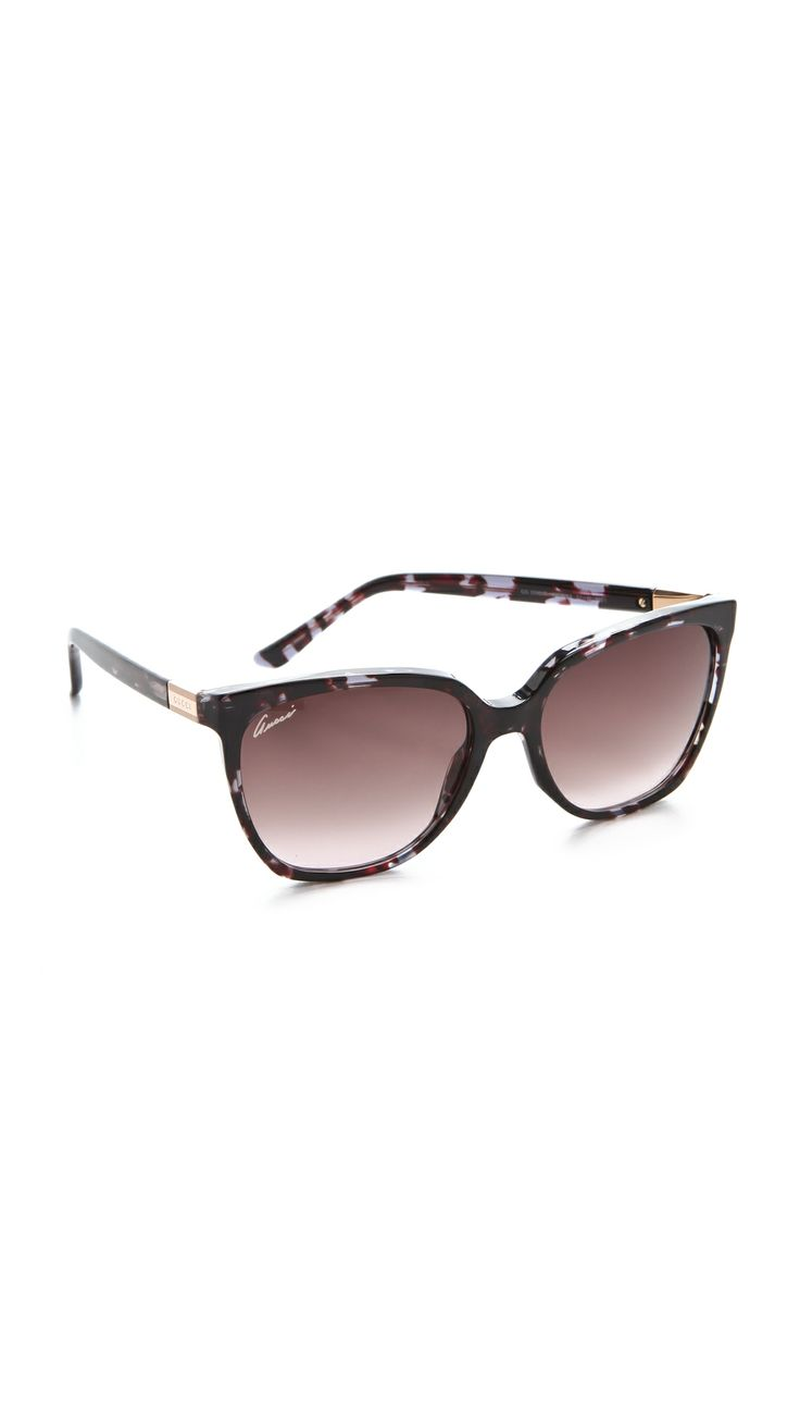 GUCCI Oversized Sunglasses in Brown Blue.