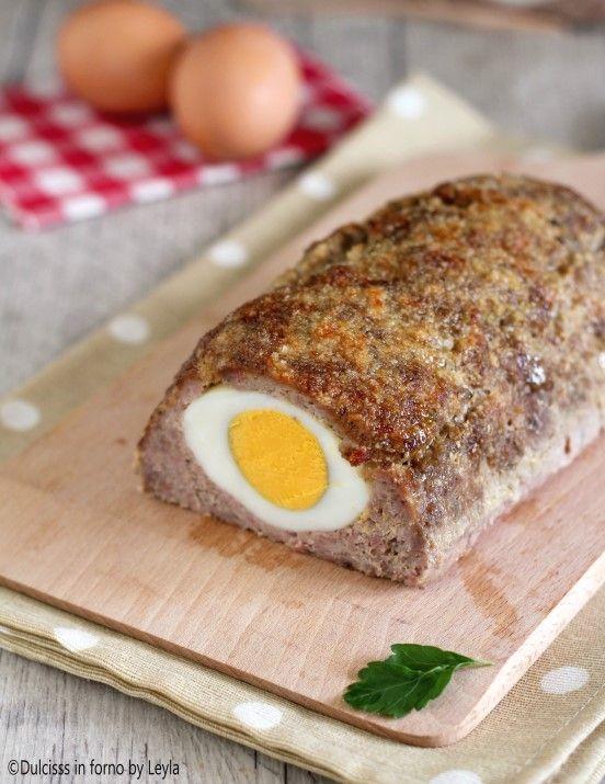 Polpettone con uova sode - Polpettone di carne ripieno ricetta Dulcisss in forno by Leyla