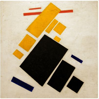 Kazimir Malevich, Airplane Flying - 1915