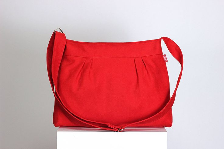 Red Purse Small Bag Pleated Bag Washable Bag Zipper Closed Shoulder bag Handmade Gift for Teen Girl Evening Bag Different Colors are Available >>> Wow! I love this. Check it out now! : Handbags