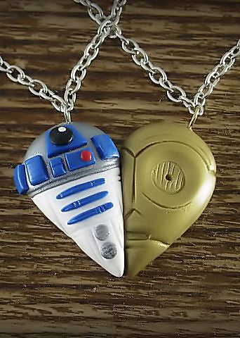 Star Wars R2D2 and C3PO Inspired Best Friends Necklace Set #bff