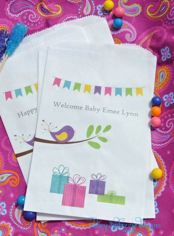 Baby Shower,  Baby Shower Decoration, Baby Shower Ides, Baby Shower Favor Bags, by abbey and izzie designs