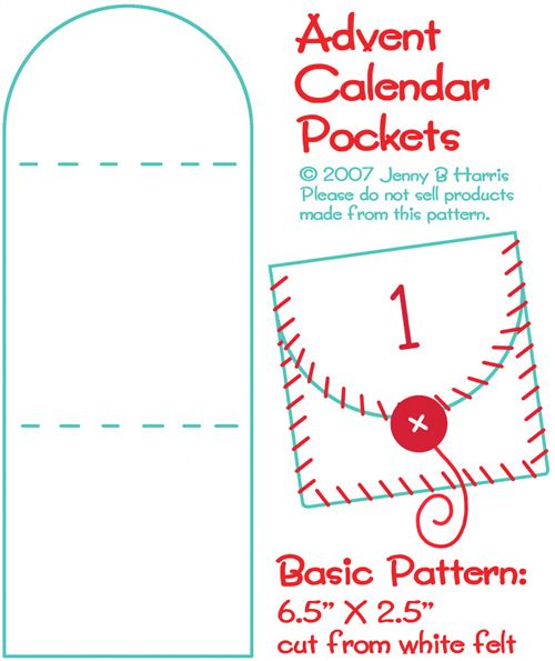 Advent calendar pocket pattern
