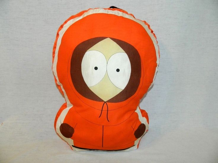 """South Park KENNY 18"""" Plush Nylon PILLOW stuffed Toy 1998 Comedy Central RARE #ComedyCentral"""