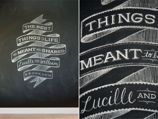 Artist Dana Tanamachi will come to your home and make your chalkboard wall gorgeous with her fabulous illustrations.