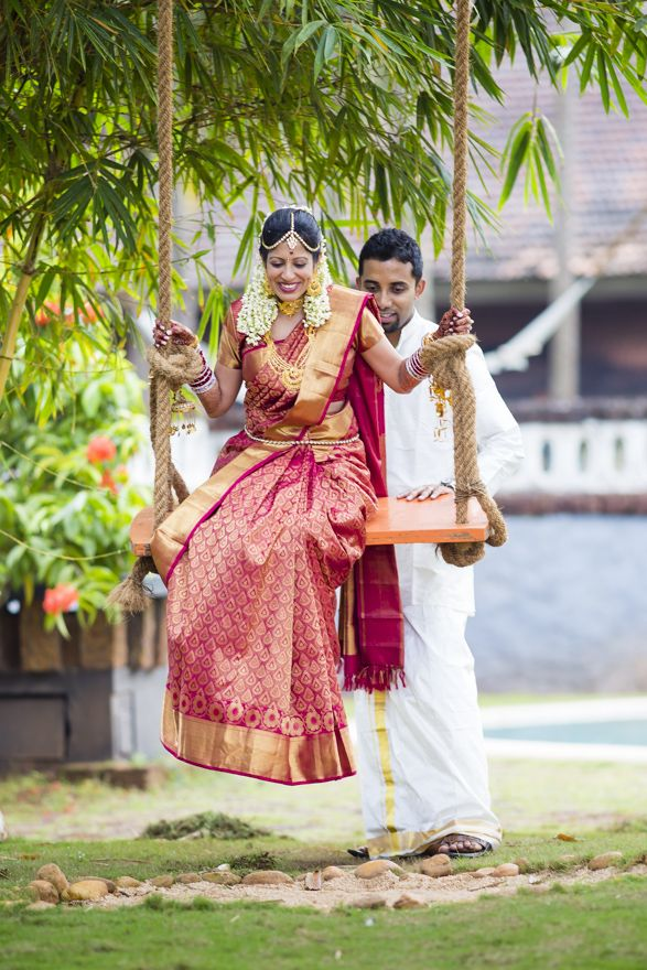 South Indian Bride-Groom http://www.pinterest.com/nricouple/ Follow our wedding boards for great ideas!